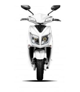 E-Scooter Hawk, modernes Design, Ansicht von vorne, Variante 2, Farbe: Weiß mit Lithium Ionen Akku