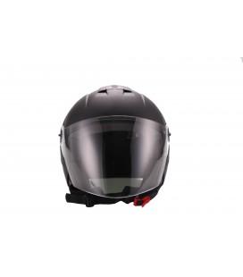 JETHELM, Motorradhelm, Rollerhelm, Helm für Elektroroller und E-Scooter, schwarz