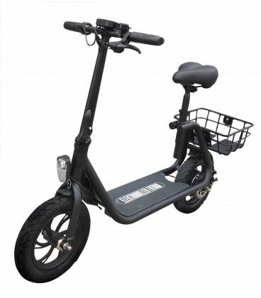 E-Scooter Power Seat, schwarz, Seitenansicht 2