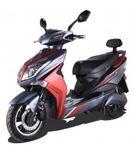 E-Scooter Hawk, Seite, schwarz rot