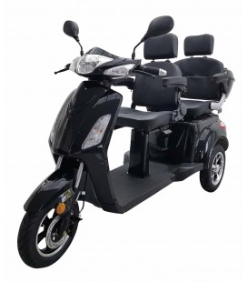 "Elektromobil ""Two"", 2 Personen, Seniorenmobil, Dreirad Elektro Roller, Elektrorollstuhl schwarz"