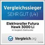 Testsieger mit Sehr Gut der Elektroroller Futura Hawk