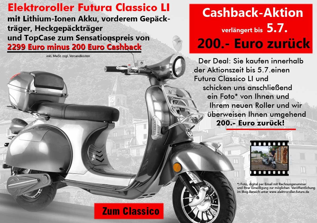 elektroroller futura cashback