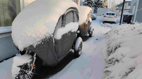Wintereinbruch bei Elektroroller Futura