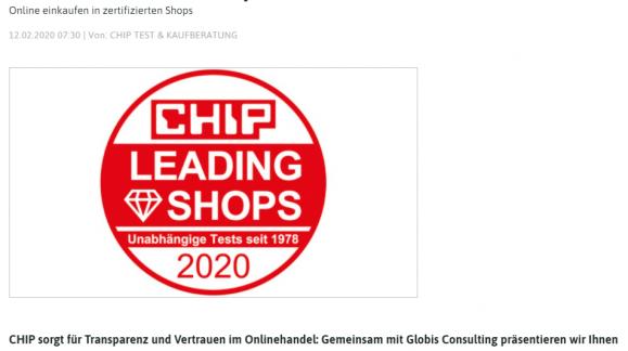 Auszeichnung von Chip.de für Futura